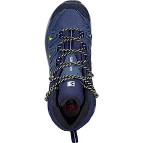 Salomon X Ultra 3 Mid GTX Kengät Naiset, crown blue/evening blue/sunny lime
